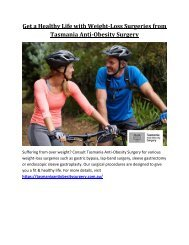 Get a Healthy Life with Weight-Loss Surgeries from Tasmania Anti-Obesity Surgery