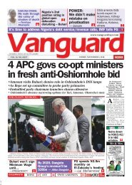 09112019 - 4 APC govs co-opt ministers in fresh anti-Oshiomhole bid