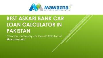 Askari Bank Car Loan Calculator