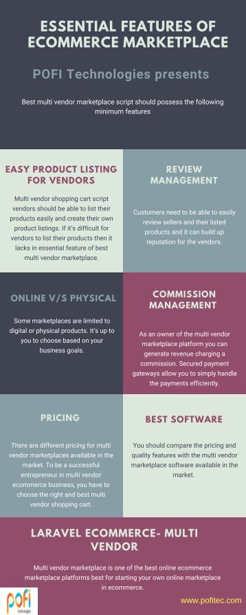 Essential Features of Ecommerce MARKETPLACE