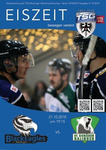 TSG Black Eagles vs. Eisbären Balingen 21 10 2018