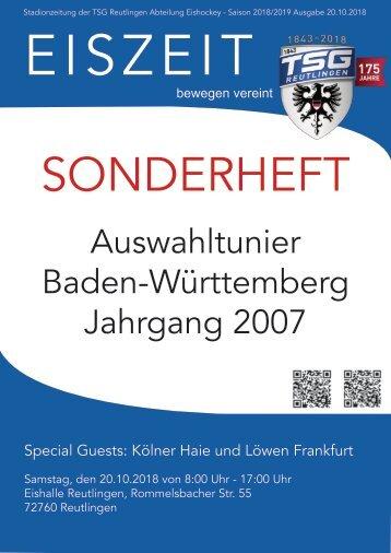 Reutlingen U 12 Auwahlturnier Eishockey Baden-Württemberg 20102018
