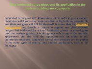 Why laminated curve glass and its application in the modern building are so popular-converted