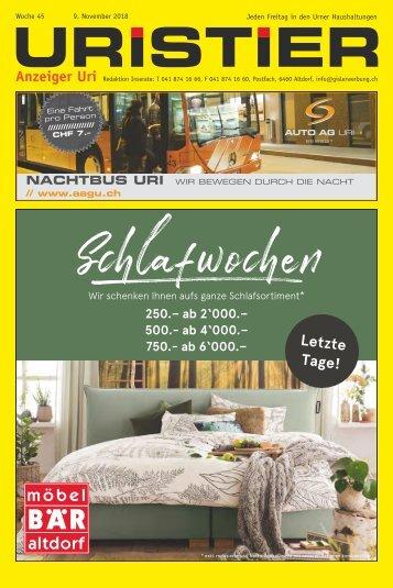 45. 2018 Uristier  Der Urner Gratisanzeiger