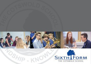 20117 Cotswold School sixth form prospectus 2018 for website low res