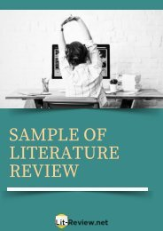 professional-sample-of-literature-review