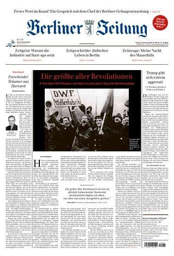Berliner Zeitung 09.11.2018
