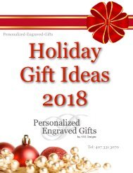 2018 Holiday Gift Guide for the Best Personalized Engraved Gifts