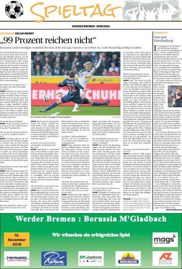 Spieltag: Werder Bremen - Borussia  10.11.2018-
