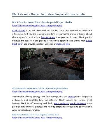 Black Granite Home Floor ideas Imperial Exports India