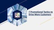 7 Promotional Tactics to Drive More Customers