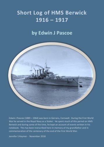 EJ Pascoe - HMS Berwick Log Final Combined