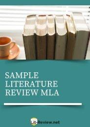 Professional Sample Literature Review MLA