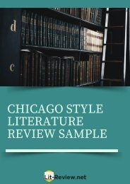 Professional Chicago Style Literature Review Sample