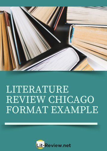 Excellent Literature Review Chicago Format Example