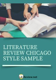 Professional Sample Literature Review Chicago Style