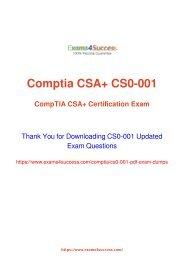 CompTIA CS0-001 Exam Dumps [2018 NOV] - 100% Valid Questions