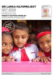 Verein Hilfsprojekt Sri Lanka Jahresbericht 2015