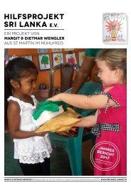 Verein Hilfsprojekt Sri Lanka Jahresbericht 2017