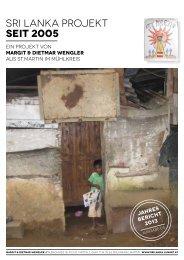 Verein Hilfsprojekt Sri Lanka Jahresbericht 2013
