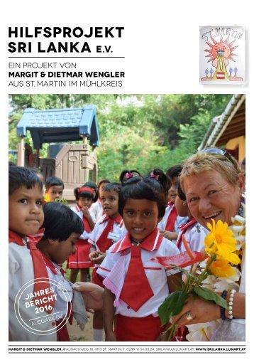Verein Hilfsprojekt Sri Lanka Jahresbericht 2016