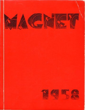 1958 Magnet Yearbook