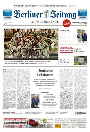 Berliner Zeitung 10.11.2018