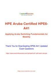 2017 New] HP Aruba Certified Switching Associate (ACSA) HPE6