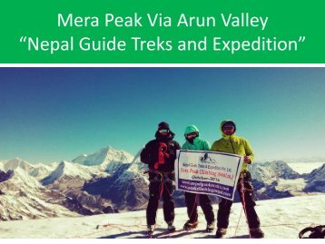 Mera Peak Via Arun Valley