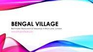 Bengal Village | Best Indian Restaurant & Takeaway in Brick Lane