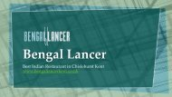 Bengal Lancer - Best Indian Restaurant in Chislehurst Kent