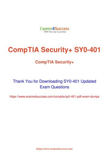 CompTIA SY0-401 Exam Dumps [2018 NOV] - 100% Valid Questions
