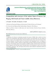 Composition and structure of the malaco fauna of sources Ain Regarg, Sidi bouali and Tataw middle Atlas (Morocco)