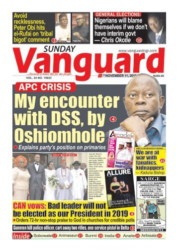 11112018 - My encounter with DSS, by Oshiomhole