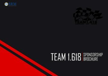 TEAM 1.618 Sponsorship Brochure