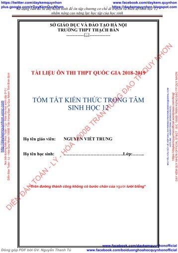 Nguyễn Viết Trung - THPT Thạch Bàn - Tài liệu ôn thi THPT Quốc Gia 2017-2018