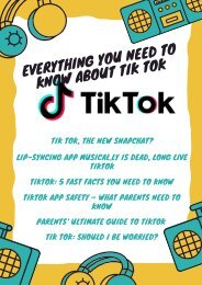Everything You Need to Know About Tik Tok