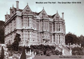 Moulton and The Hall: The Great War 1914-1918