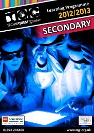 TQG Learning Programme 2012/13 - Secondary