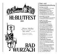 Festschrift Hl. Blutfest 2015