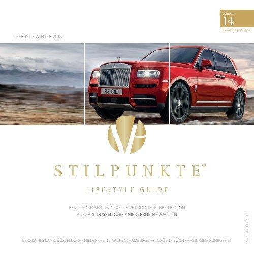 STILPUNKTE Lifestyle Guide Ausgabe Düsseldorf Herst/Winter 2018