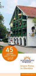 Sonnleiten Rupert Appartementhaus - Preisliste 2019