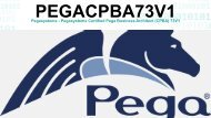 PEGACPBA73V1 Exam Dumps Questions