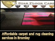 Affordable carpet and rug cleaning services in Bromley