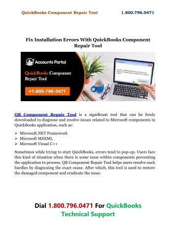 Fix Installation Errors With QuickBooks Component Repair Tool