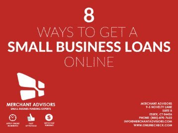 8 Ways To Get A Small Business Loan Online-converted (1)