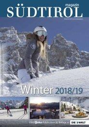 Radius Südtirol Magazin Winter 18/19 Die Welt