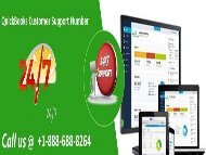 Dial +1-888-688-8264 Get connected with the QuickBooks Support team for resolving software error