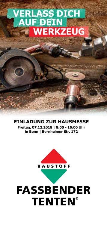 Flyer Hausmesse in Bonn am 07.12.2018