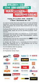 Flyer Hausmesse in Bonn am 07.12.2018 - Page 2